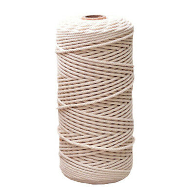 1mm-3mm Beige Cotton Twisted Cord Rope Craft Macrame Artisan String Practical