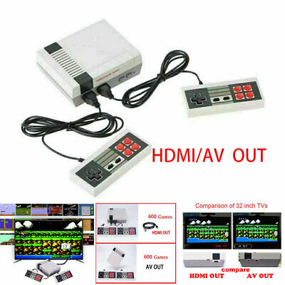 600 Games in1 Classic Mini Game Console for NES Retro TV HDMI Gamepads kid gifts