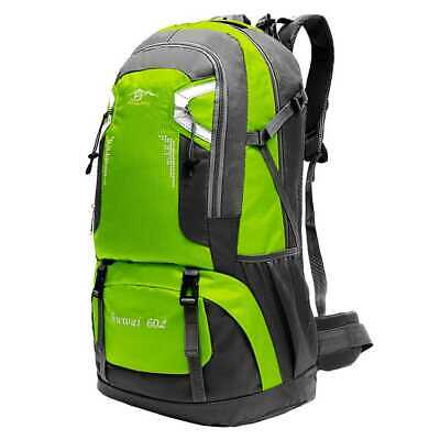 Mochila 60L con Correas Cierres de Seguridad Acampada Outdoor Backpack Azul