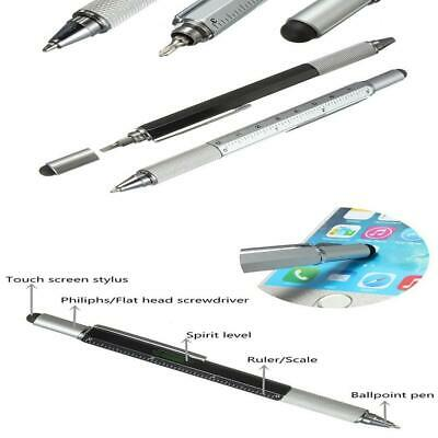 6 IN 1 Multi Purpose Touch Screen Stylus Ballpoint Pen Ruler Screwdriver Tool