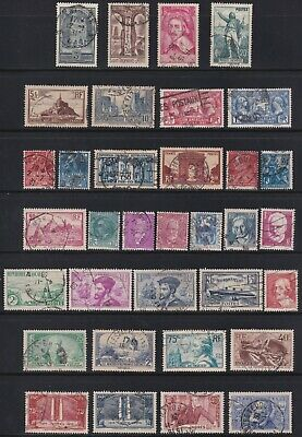 France 1927-1936 Collection of 34 Classic Commemorative Stamps SCV $85.45