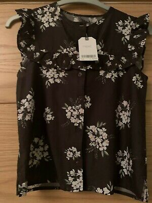 Girls Grey Floral Top from Next Age 10