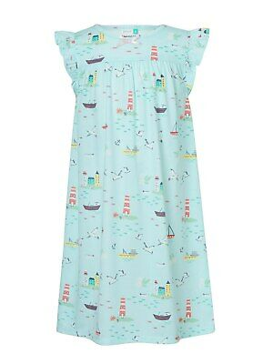 John Lewis & Partners Girls' Seaside Nightdress / Blue 2 Years New With Defect