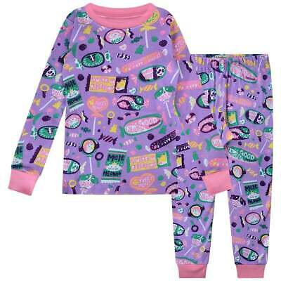 Hatley Childrens Kitty Candy Long Sleeve Pyjamas/ Purple 2 Years New With Defect