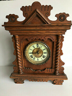 Vintage Oak American Ansonia Mantle clock