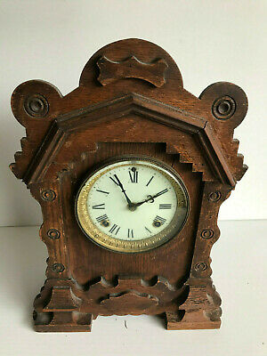 "Vintage Oak American Ansonia Mantle clock ""DULUTH"""