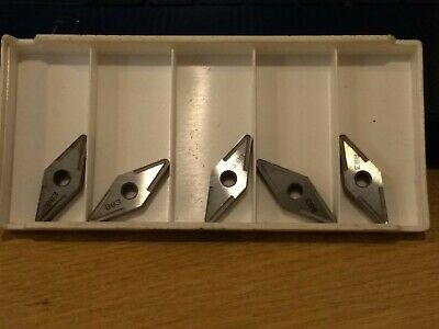 5x Seco Carbide Turning Inserts VNMG160412-MR4  833