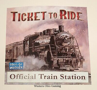 Days of Wonder Ticket To Ride Official Train Station Promo Window Sticker NEW