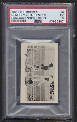 The Rocket - Famous Knock-Outs 1923 - Dempsey v Carpentier - PSA 5 EX