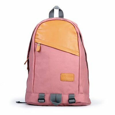 Canvas Womens Girls Eshow Backpack Book Bag Casual Work School Pink