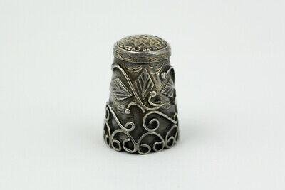 Vintage Taxco Mexico Sterling Silver Raise Scrollwork Thimble 7.8 Grams