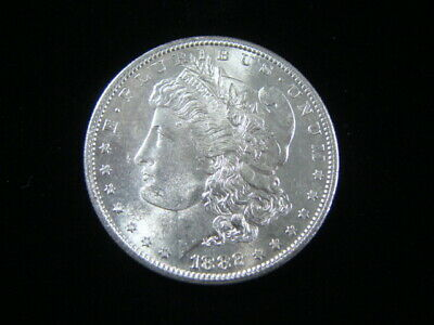 "1882-S Morgan de Plata Dólar Brilliant Uncirculated"" ""Bonito"