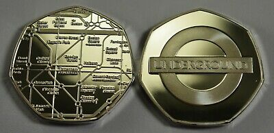 Superb LONDON UNDERGROUND Fine Silver Commemorative. Subway/Railway/Tube