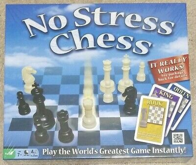 No Stress Chess Revolutionary Teacher with 56 Action Cards Two Sided Game Board