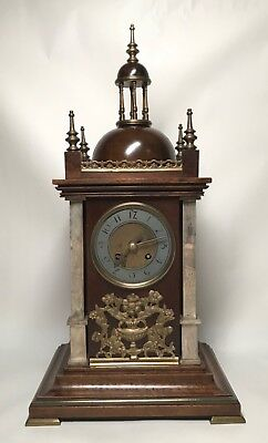 Mid to Late 19th Century Walnut & Brass Bracket Mantel Clock by Planchon. Fusee?