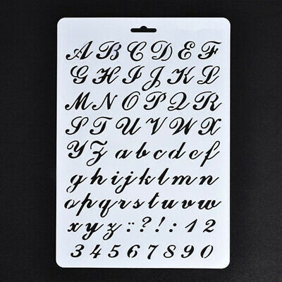 Lettering Stencils, Letter and Number Stencil, Painting Paper Craft Alphabet and