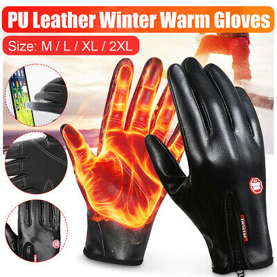 2PC Winter Warm Gloves Black Touch Screen Windproof Waterproof Outdoor Ski Sport