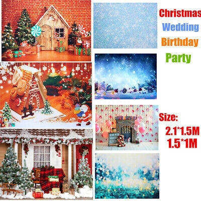 7ft Christmas Photo Photography Props Background Cloth Vinyl Backdrop For Studio