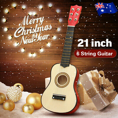 Wooden Beginner Acoustic Mini Guitar String Kids Children Music Christmas Gift