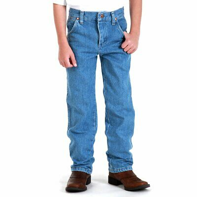 Wrangler Boys' Cowboy Cut Relaxed Fit Jean, Stonebleach Denim, 12 Regular