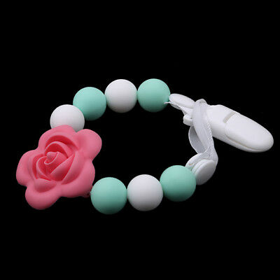 Silicone Teething Beads Ring Flower Baby Sensory Teether 6A