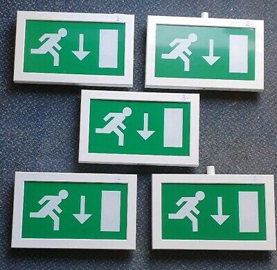 5 X Menvier Britsign Emergency Exit Lights