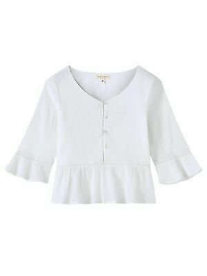 John Lewis & Partners Girl's Woven Top / White 8 Years New With Defect Free P&P