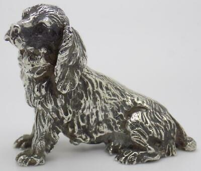 Vintage Solid Silver Italian Handmade Large Dog Figurine Stamped Statue