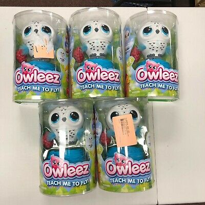 Owleez Interactive Pet Owl Toy teach me to fly white blue lights sound