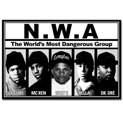 60649 Group NWA Ice Cube Dr Dre Rap Stars Music Wall Print POSTER AU