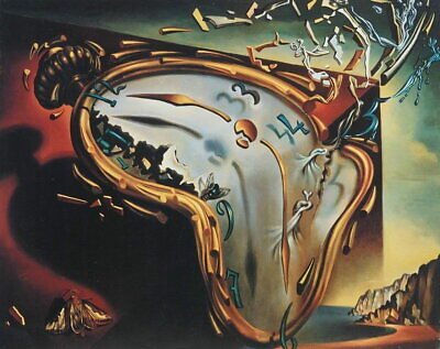 62194 Soft Watch of Explosion Salvador Dali Wall Print POSTER AU