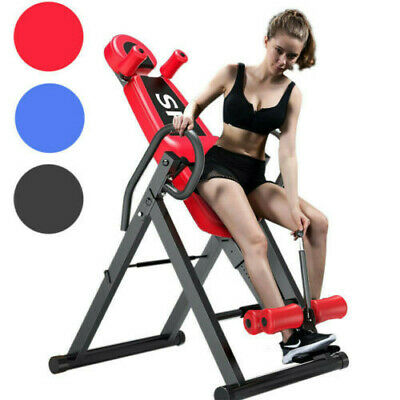 Heavy Duty Inversion Table Pain Relief Back Therapy Headrest Exercise Chair New