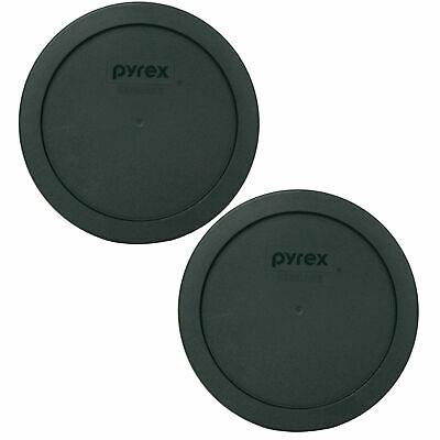 Pyrex 7201-PC Thyme Green Plastic Storage Replacement Lid Cover (2-Pack)