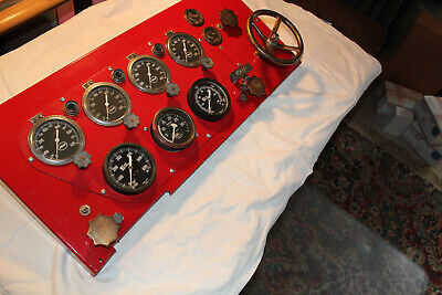 Fire Truck Control Panel 1951 Mack Truck With All Gauges And Controls