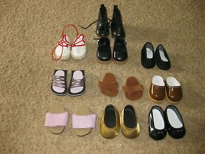Collection of 10 Pairs of American Girl Doll Size Shoes +