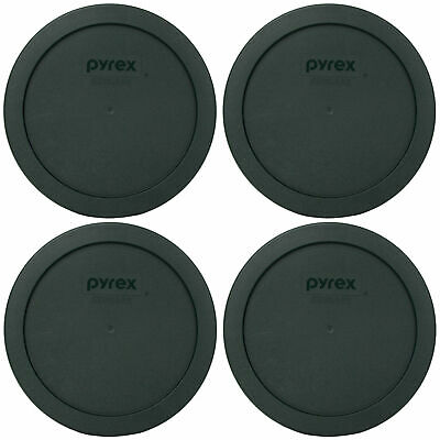 Pyrex 7201-PC Thyme Green Plastic Storage Replacement Lid Cover (4-Pack)