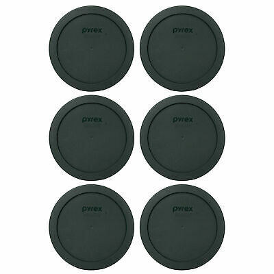 Pyrex 7201-PC Thyme Green Plastic Storage Replacement Lid Cover (6-Pack)