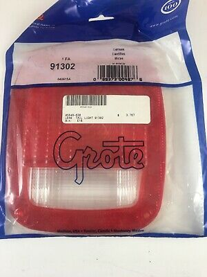 Grote 91302 - Red Stop Tail Turn Replacement Lenses