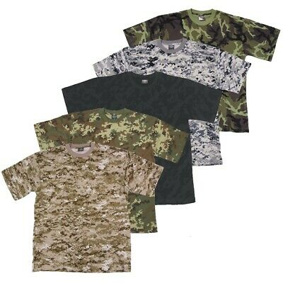 Tee-Shirt Us Style Classique Militaire Outdoor Paintball Armee