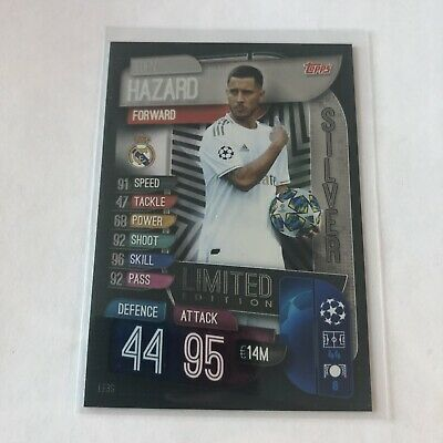 RARE Match Attax 2019/20 SILVER Limited Edition Eden Hazard - Real Madrid - MINT