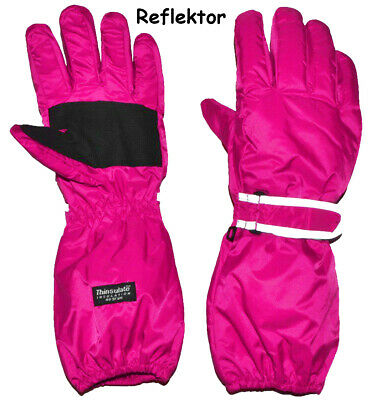 """Thermal Gloves/Gloves - with Long Shaft - """" Pink - Pink """" - Sizes"""