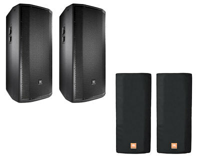 2x JBL PRX835W Active 2-Way Speaker Powered Monitor + Covers