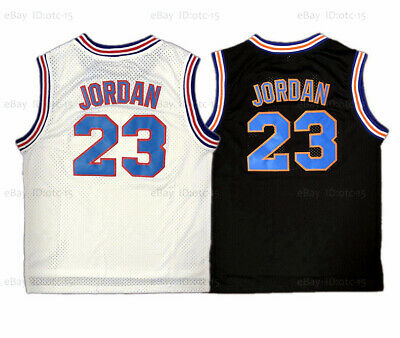 Michael Jordan 23 Space Jam Tune Squad Basketball Jersey Stitched White Black