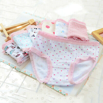 Kid Children Girls Printed Panties Boxer Shorts Knickers Casual Brief Underwear