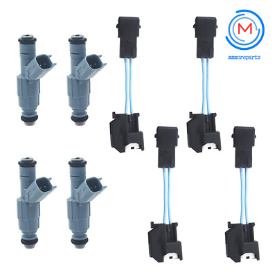 Set of 4 Upgraded Genuine Fuel Injectors for Nissan 240SX Stanza Axxess 2.4L