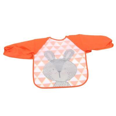 Baby Toddler Waterproof Long Sleeve Children Kids Feeding Bibs Smock Apron  6N