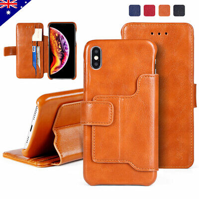 Fr iPhone 11 Pro Max 6 7  8 Plus Flip Wallet Case Card Slot Stand Leather Cover