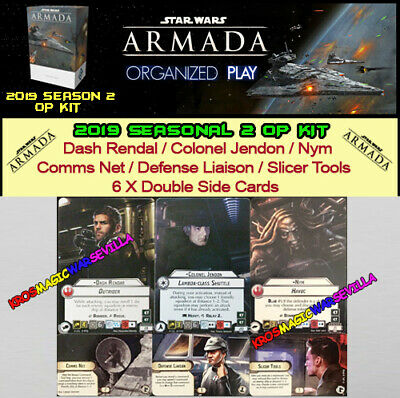 STAR WARS ARMADA 2019 SEASON 2 OP KIT - Dash Rendal, Colonel Jendon, Nym ENGLISH