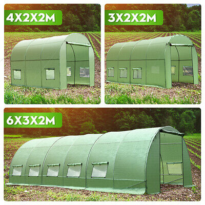 6M X 3M Fully Galvanised Steel PolyTunnel Frame Greenhouse Pollytunnel Tunnel UK