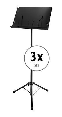 3x Foldable Adjustable Orchestral Music Stand Sheet Holder Heavy Duty Tripod